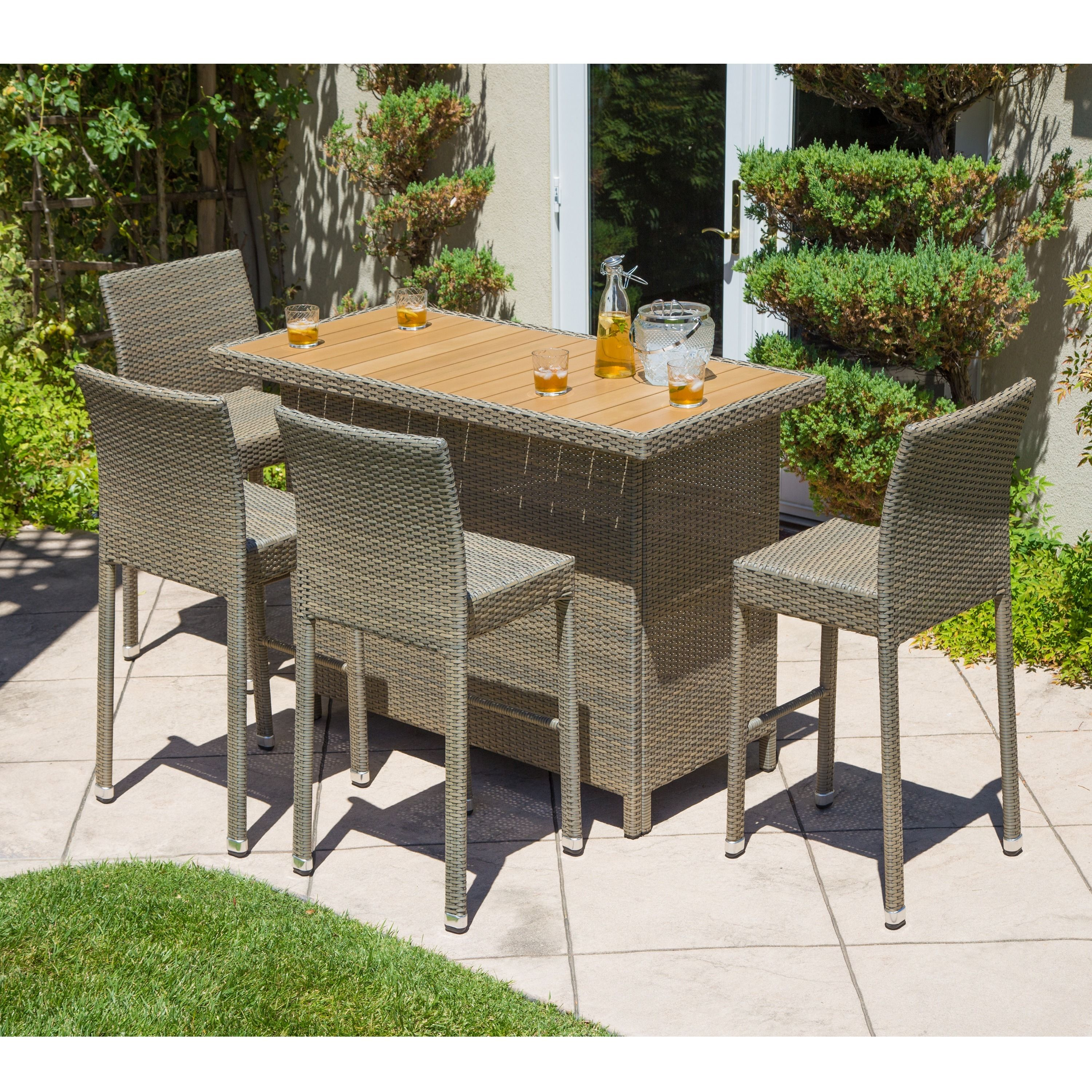 Pleasant This Outdoor Dining Set Features A Table With Shelf Storage Download Free Architecture Designs Rallybritishbridgeorg