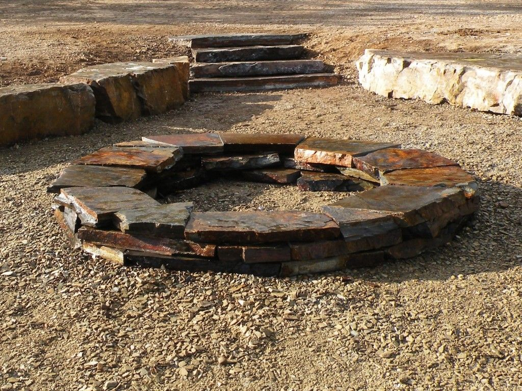 Custom natural stone fire pit natural stone fire pits