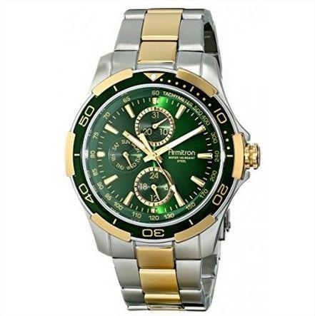 0643111bd69 RELÓGIO ARMITRON MEN S 20 4677GNTT MULTI-FUNCTION GREEN DIAL TWO-TONE  BRACELET WATCH  RELÓGIO  ARMITRON