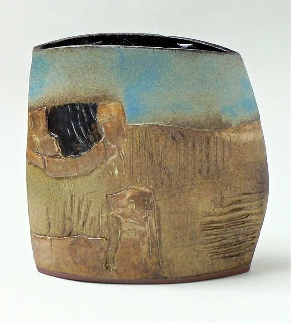 Sid Samphire - Abstract Landscape - 9.25 x 9.5 x 3.5 - ceramic
