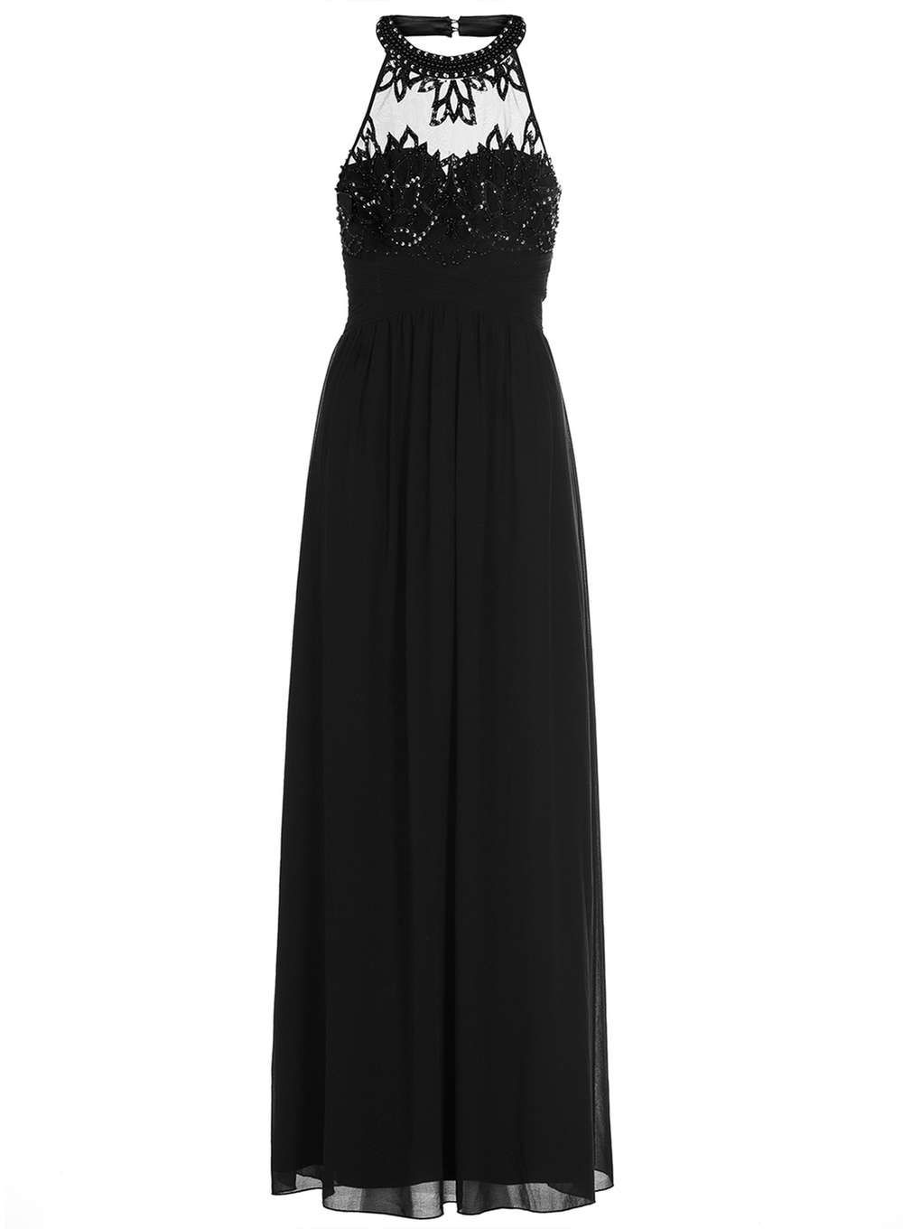Dorothy perkins womens quiz black high neck maxi dress black cool