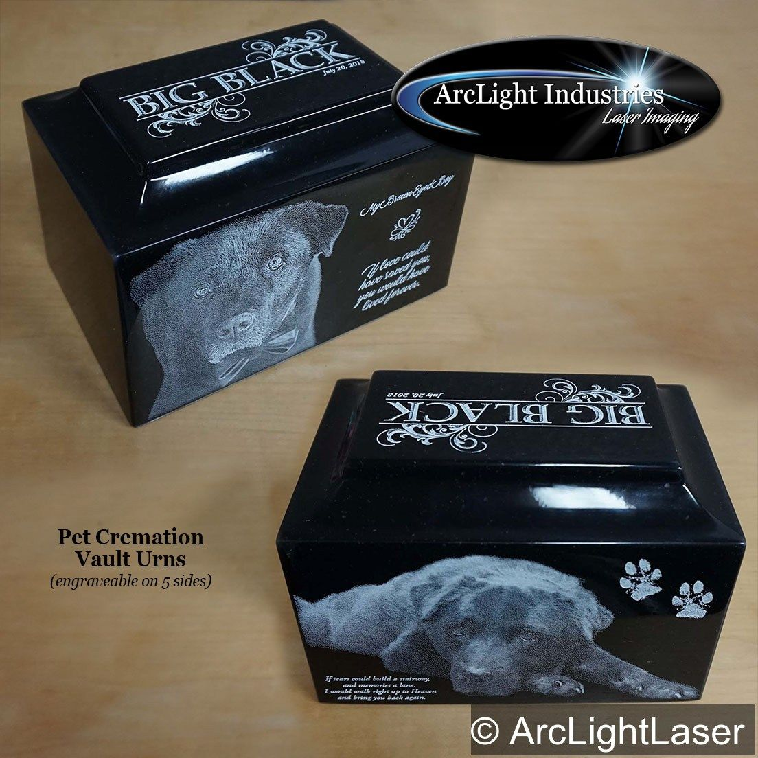 This is our XL pet urn, for the big dogs  Our pet cremation