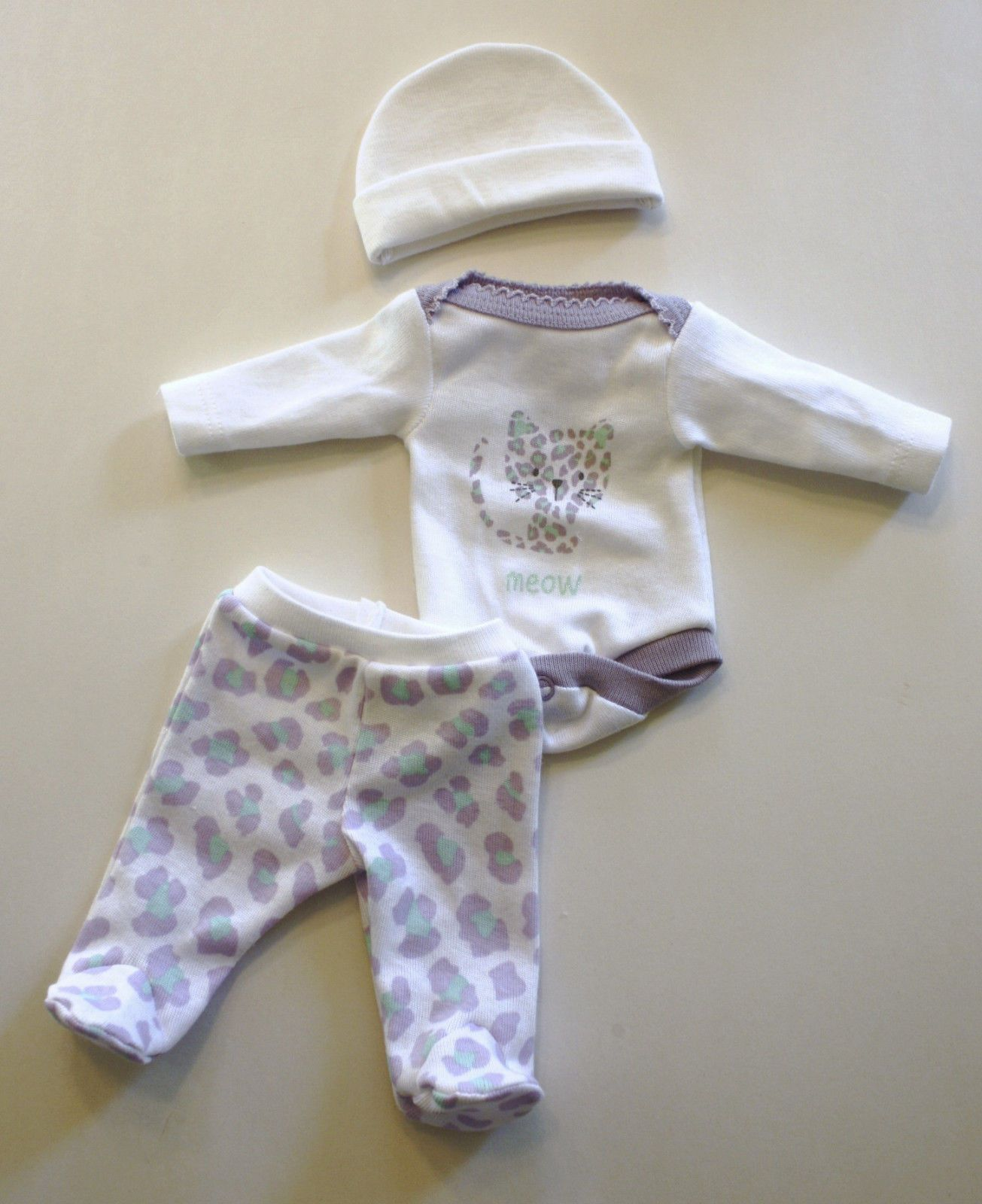 OOAK Baby Doll Clothes Bodysuit Tiny Miracle Mini Reborn