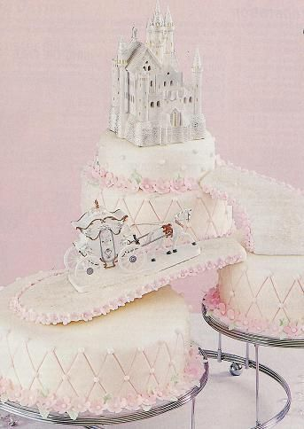 Castle Centerpiece Elegant Cake Topper Shown With Horse And Carriage