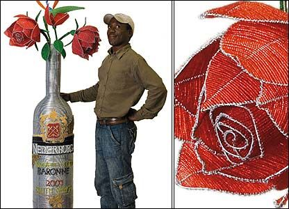 BBC NEWS   In pictures: Wire art exhibition in South Africa, Synonomous scenery