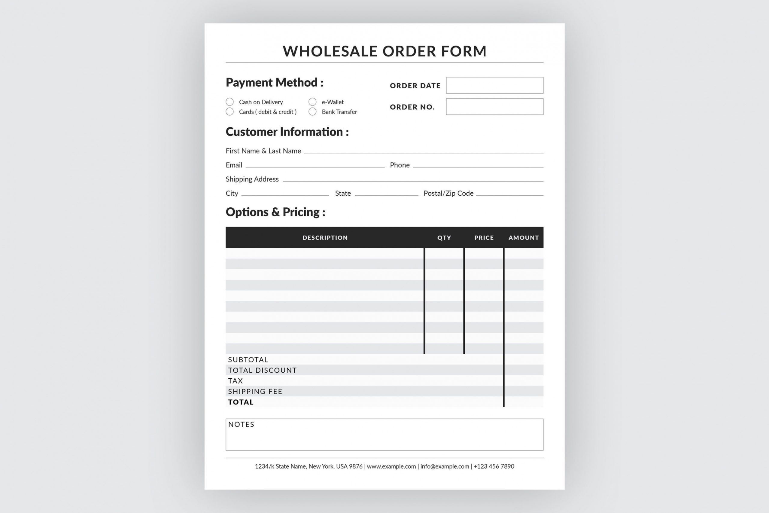 Explore Our Image Of Monogram Order Form Template Order Form Template Stationery Templates Templates