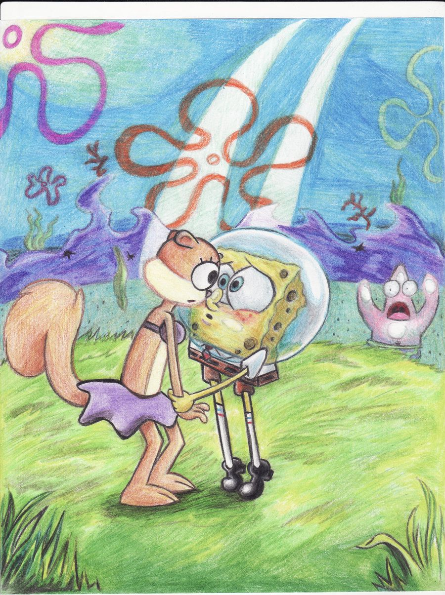 Spongebob And Sandy Doing It : spongebob, sandy, doing, SpongebobxSandy, Cartoon, Wallpapers,, Spongebob, Sandy,, Wallpaper