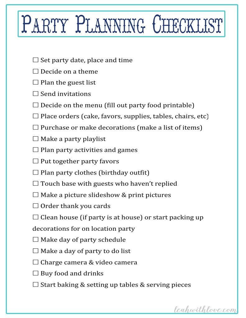 Photo of {Free} Party Planning Ausdrucke – Leah With Love