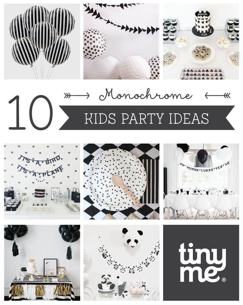 10 Monochrome Party Ideas Kinder Geburtstag Ideen Party Und Ideen
