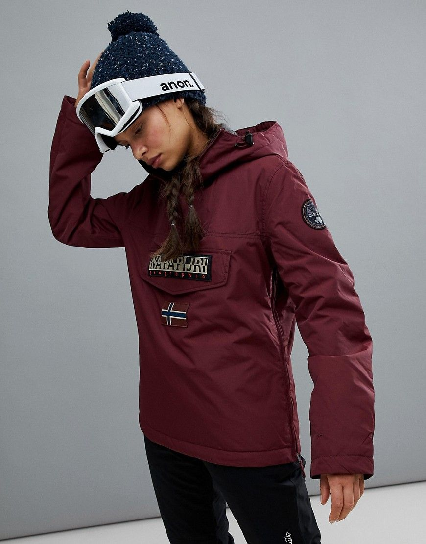 Napapijri Jacket In Red Rainforest Winter Burgundy XZuPki
