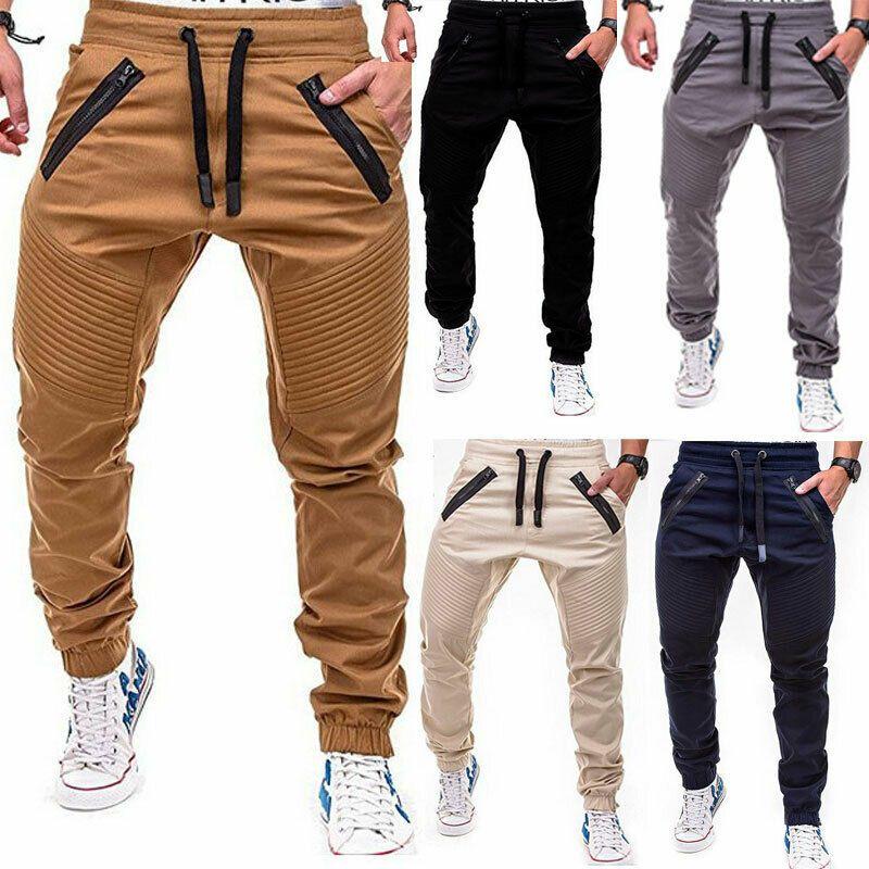 Men Sports Pants Long Trousers Tracksuit Fitness Workout Joggers Gym Sweatpants.
