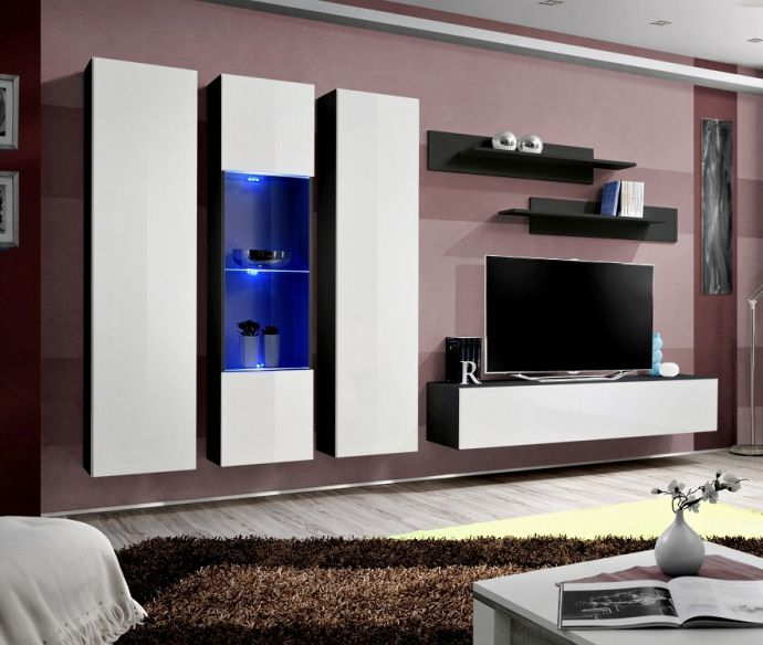 Idea c3 - wall mounted tv cabinet for 70 inch tv Modern wall units