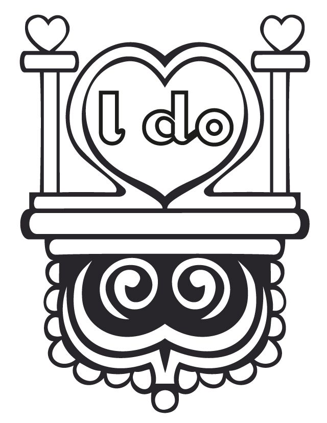 wedding i do free printable coloring pages