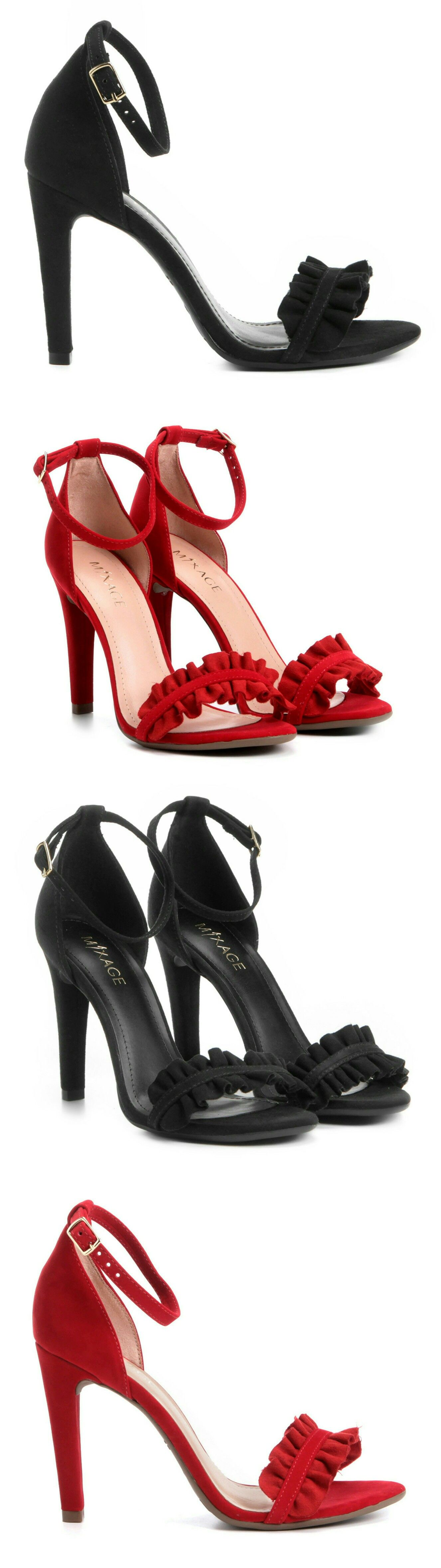 0b16870f7 Sandalia Salto Alto Fino Agulha Social Babados Festa Sapatos femininos  calcados baixo verao sapatilhas inverno outono