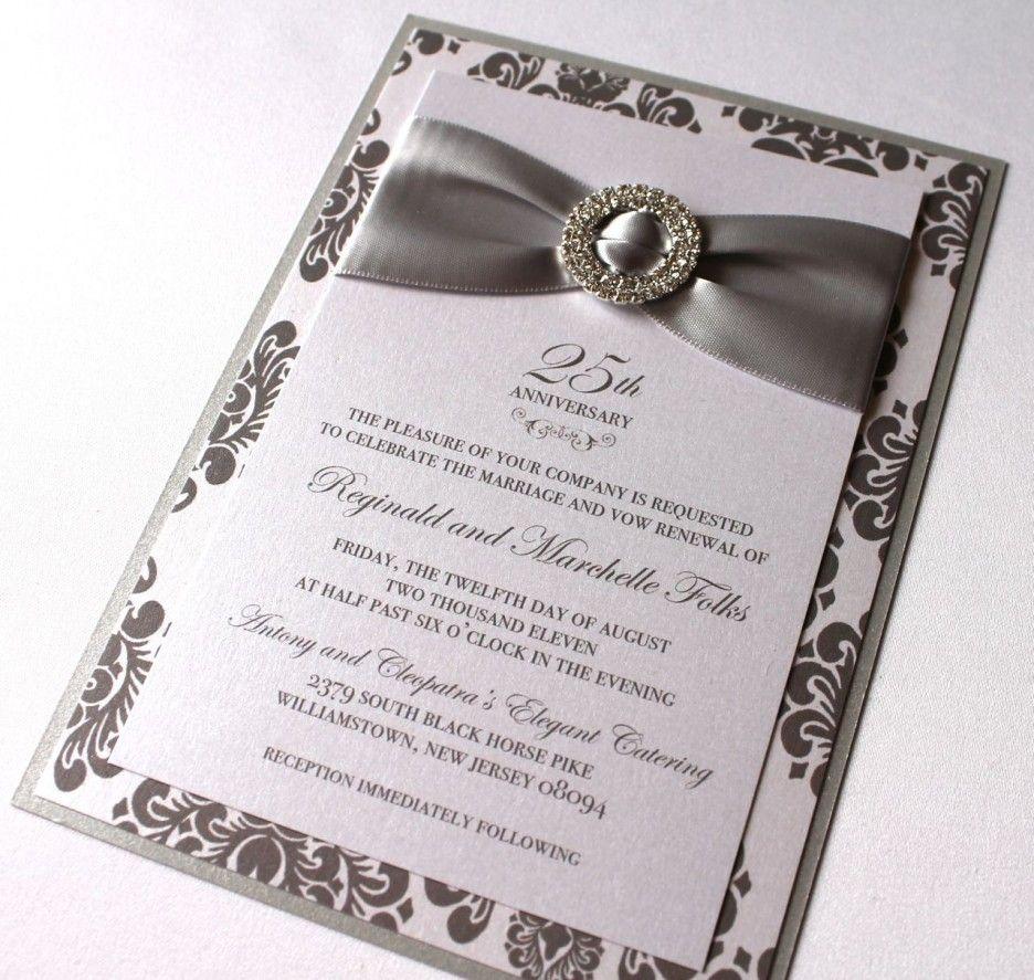 Glamour Wedding Anniversary Invitation Card Concept Moreover Rib