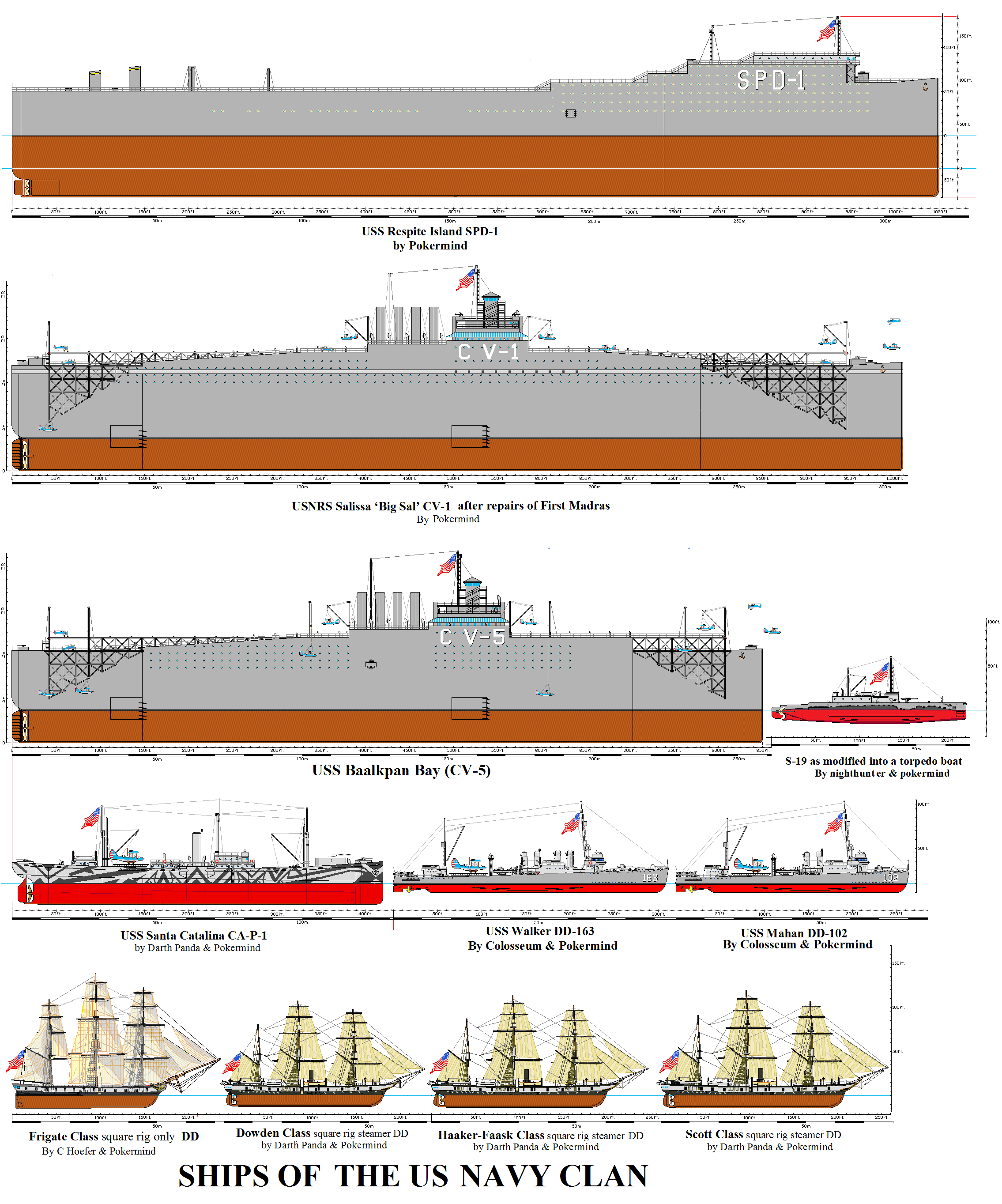 Ships of the US NAVY CLAN in the Destroymen Series by