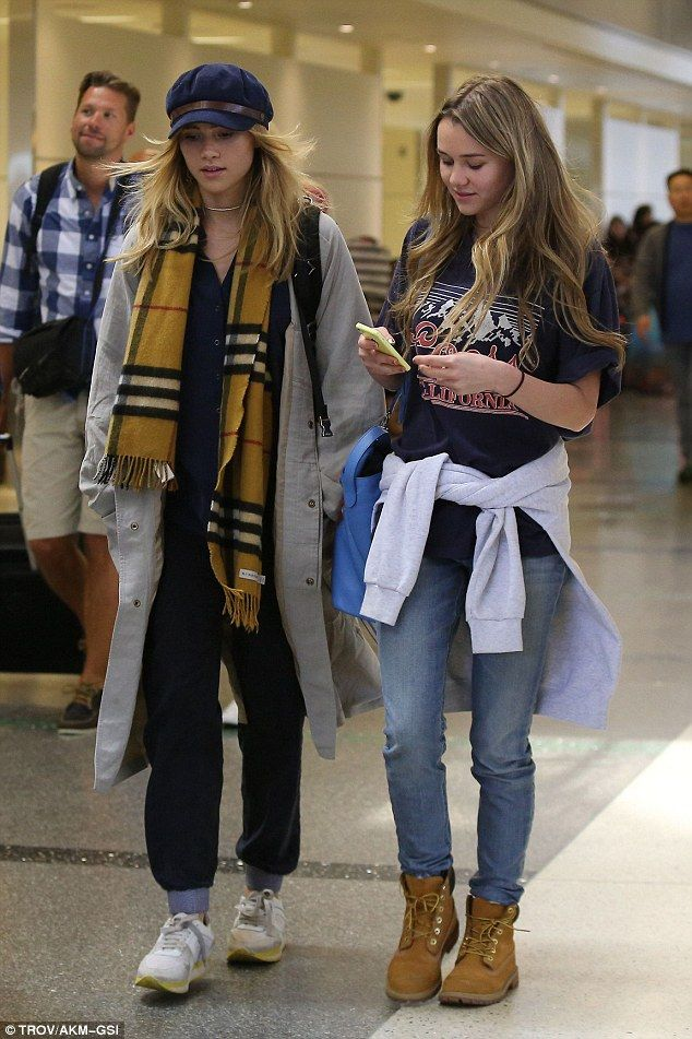 Supermodel style: Suki and Immy Waterhouse weren't afraid to rock the low-key look as they...
