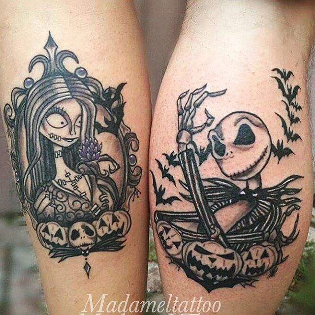 Disney Couple Tattoo Ideas: The Cutest Couples Tattoo Ever. Enjoyed Doing These So