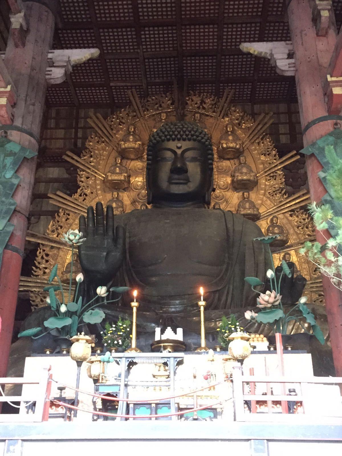 Nara, biggest bronze Boeddha