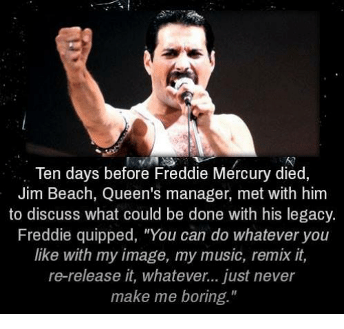 Image result for freddie mercury don't make me boring