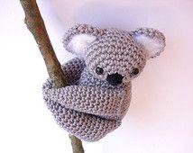 Koala Gefüllt Tier Koala Plüsch Häkeln Koala Amigurumi Häkeln