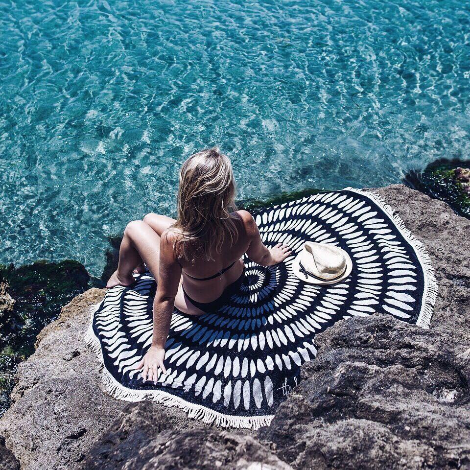 diy serviette de plage ronde marie claire diy pinterest. Black Bedroom Furniture Sets. Home Design Ideas