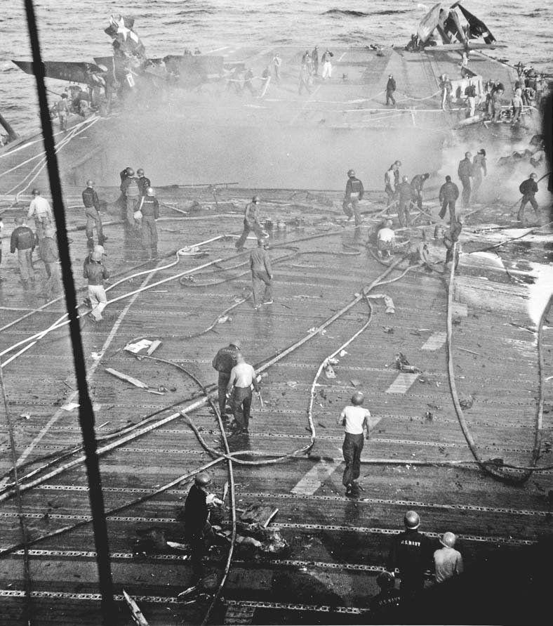 uss enterprise  cv 6   okinawa 14 may 1945