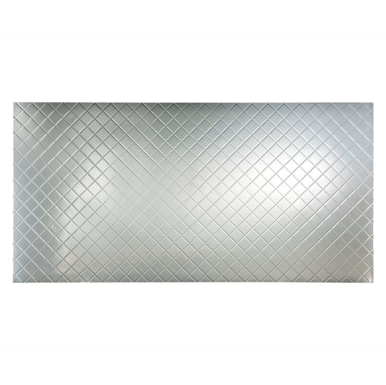 Restaurant Kitchen Wall Panels shop fasade 4-ft x 8-ft quilted wall panel brushed aluminum at