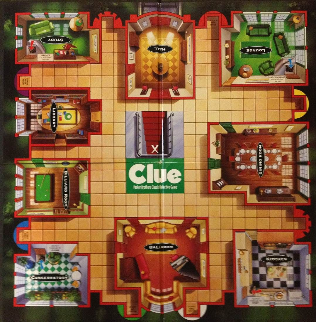 Game board colors - Play The Game Of Clue But With A Sexy Twist You Ll Never