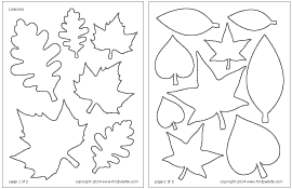 photograph relating to Free Printable Leaf Template called Leaves Printable Templates Coloring Web pages FirstPalette