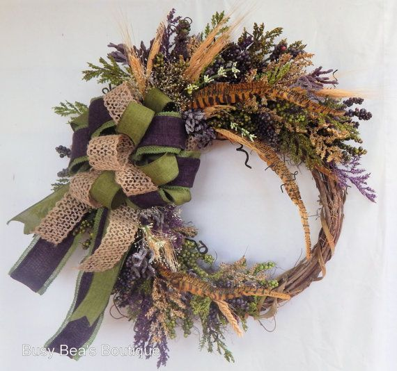 Fall WreathFront Door Silk Floral Wreath in by BusyBeasBoutique