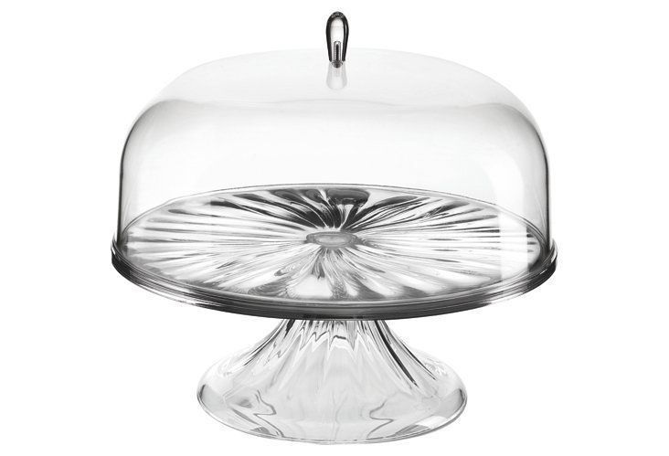 Acrylic cake stand w dome 105 cake stand with dome