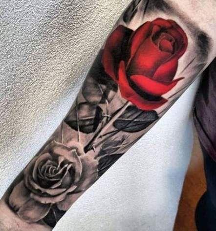 Tattoo Leg Calf Roses 19 Best Ideas Tattoos Leg Tattoos Rose Tattoos