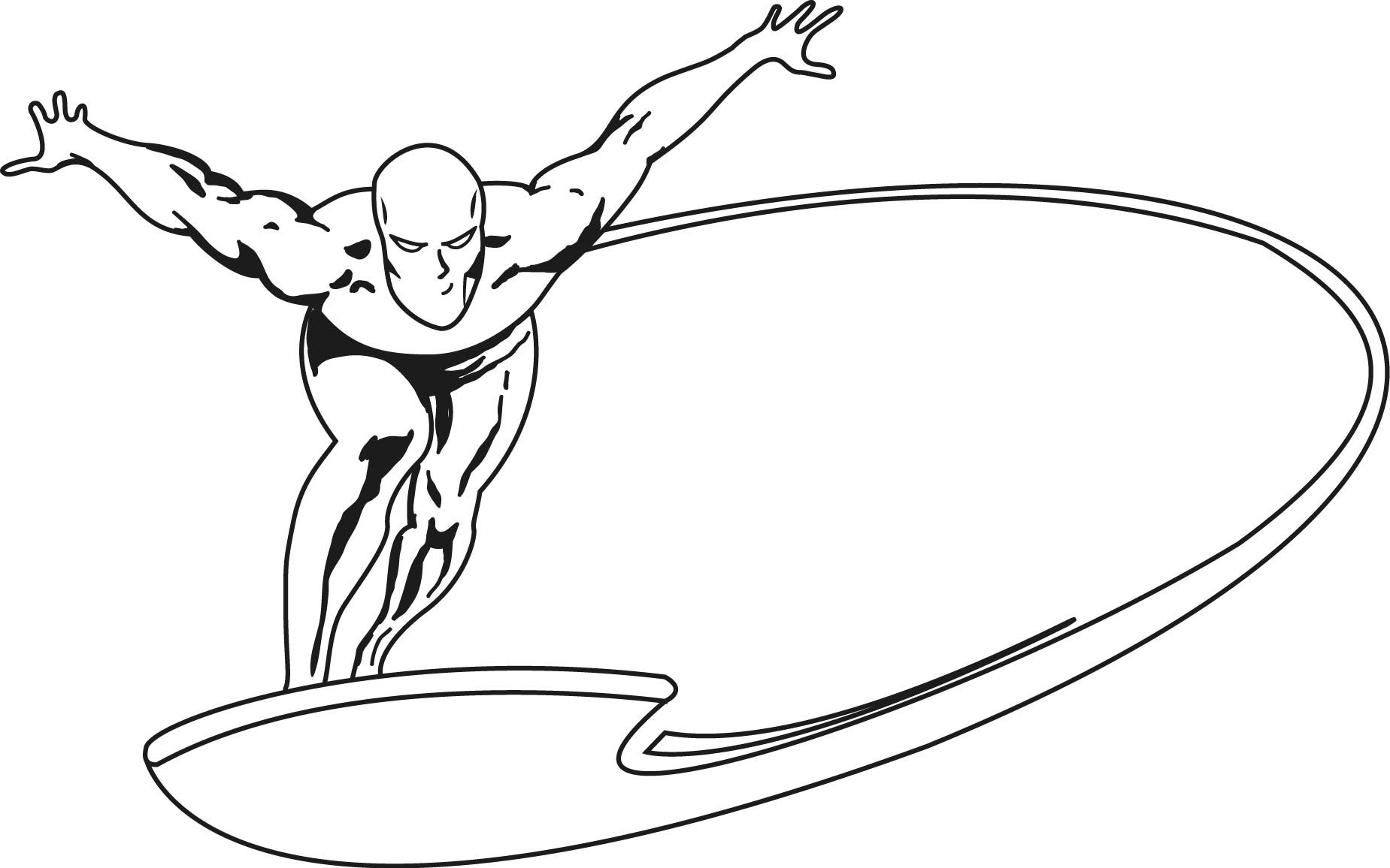 Fantastic Heroes Coloring Pages Silver Surfer Coloring Pages