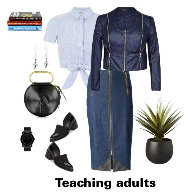 """Teaching"" by belaya-anna on Polyvore featuring 3.1 Phillip Lim, Miss Selfridge, Christian Dior, Jeffrey Campbell, City Chic, Movado, CB2 and AeraVida"