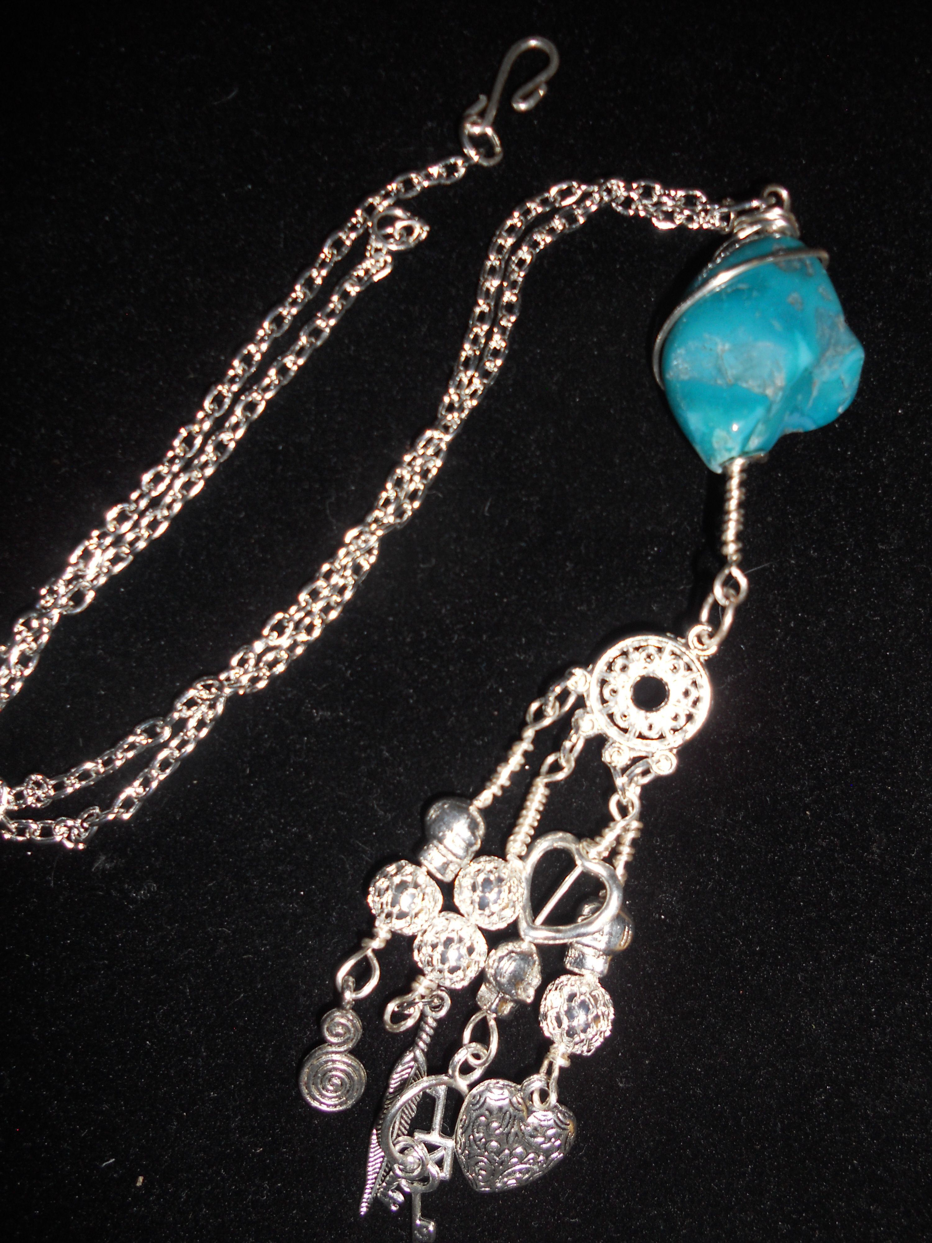 Beautiful blue stone necklace.