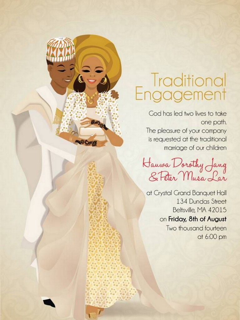 10 African Wedding Invitations Designed Perfectly Wedding