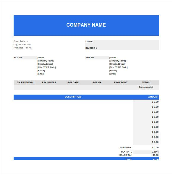 Purchase Order Spreadsheet Template Free Dowload   Budget