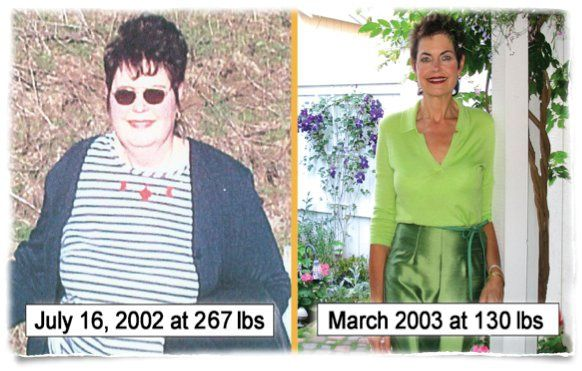 Nancy is down 137 pounds and has kept it off for 8 years!