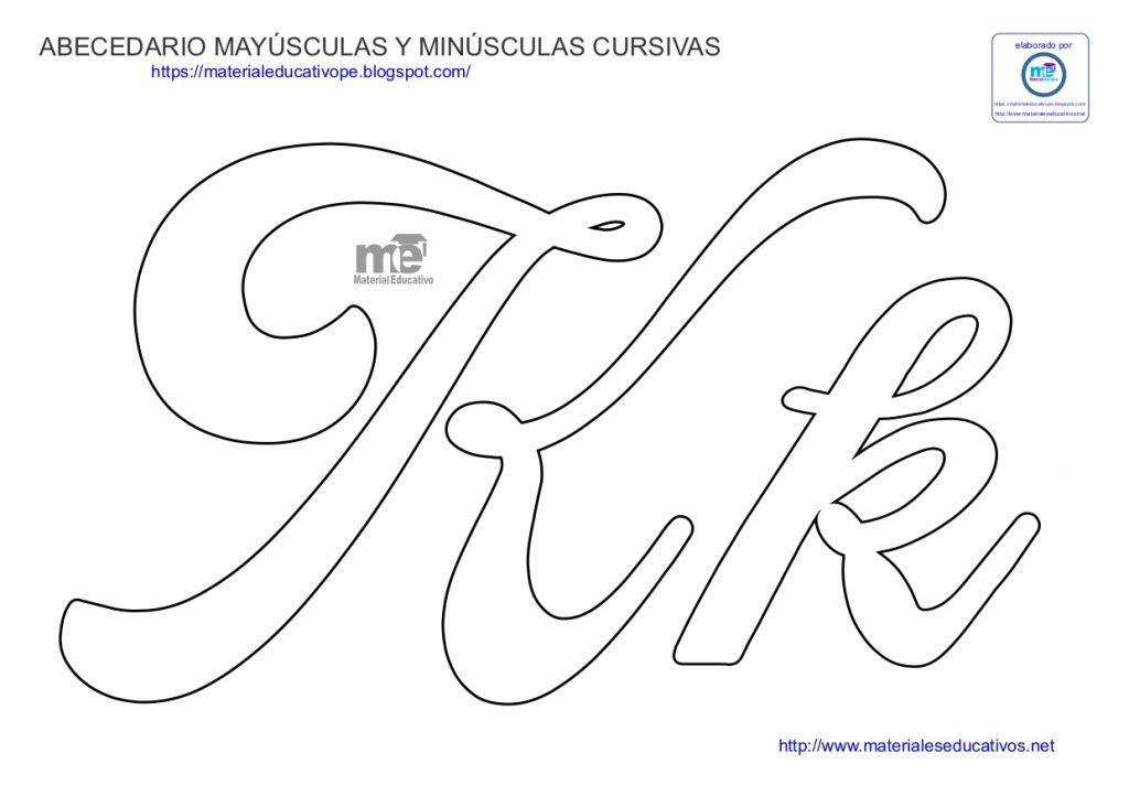 Moldes De Letras Cursivas Mayúsculas Y Minúsculas Letras Do Alfabeto Para Impressão Molde Letra M Molde Letras Feltro