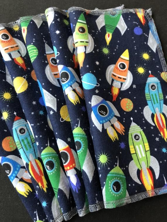Rocket Cloth Napkins, Planets, Reusable Napkins, Waste Free, Eco Friendly Kitchen, Washable Napkins, #clothnapkins