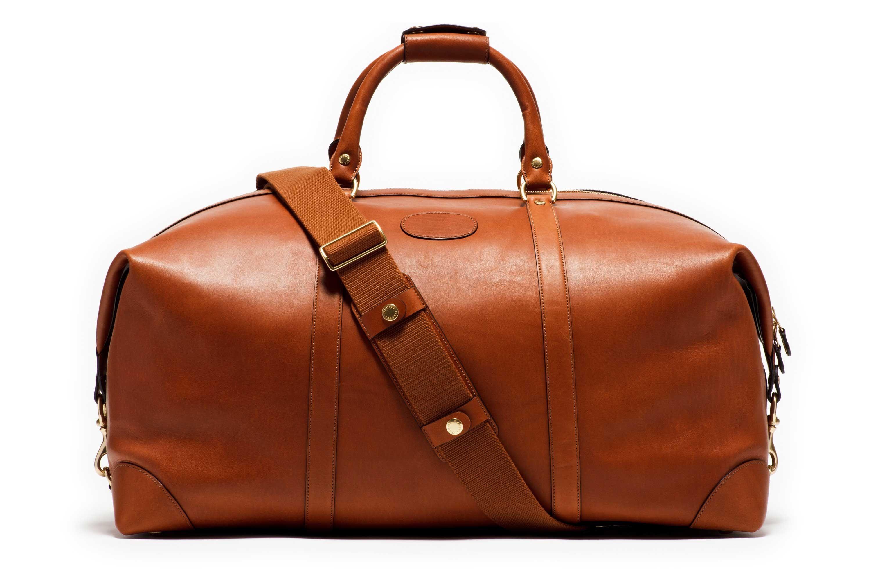 8768af25145 Large Leather Duffel Bag   Cavalier III No. 98 Chestnut   Ghurka ...