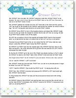 Great Printable Left Right Baby Shower Story Game