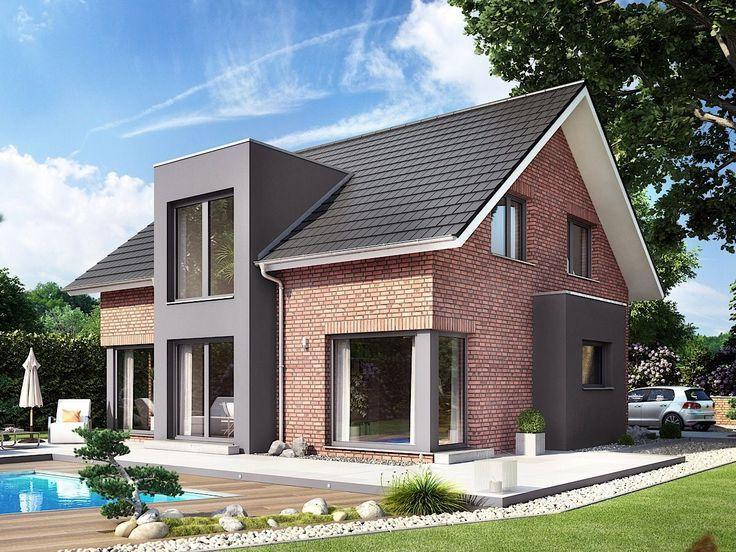 Haus Ideen Neubau außen modern mit Satteldach Architektur