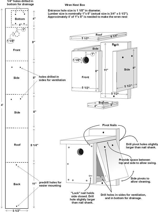 explore wren house bird house plans and more