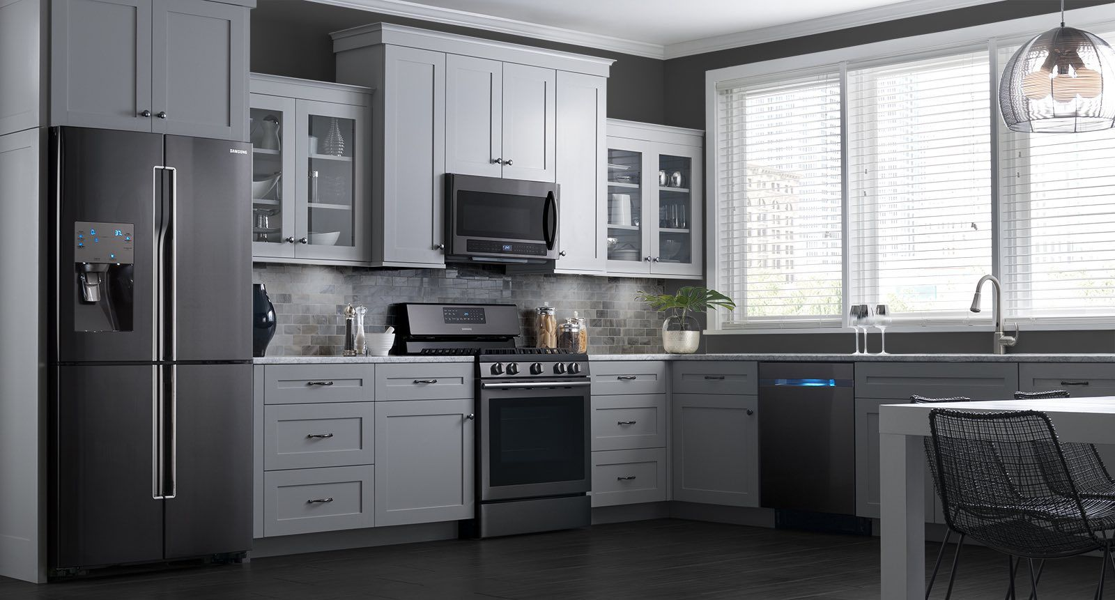 These Samsung black stainless steel appliances look ...