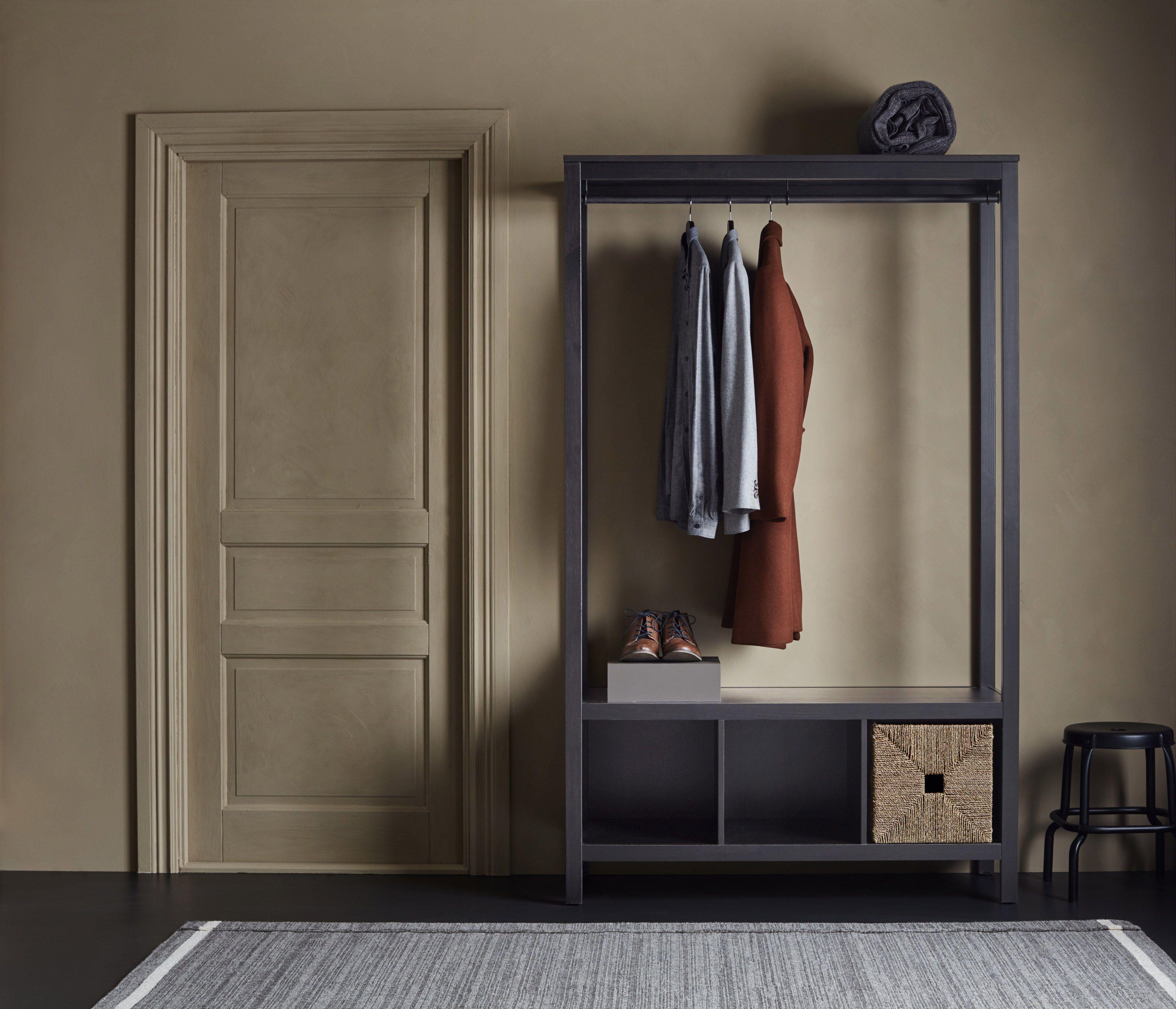 Ikea Hemnes Linnenkast.Hemnes Open Kledingkast Wit Gelazuurd Ikea Catalogus