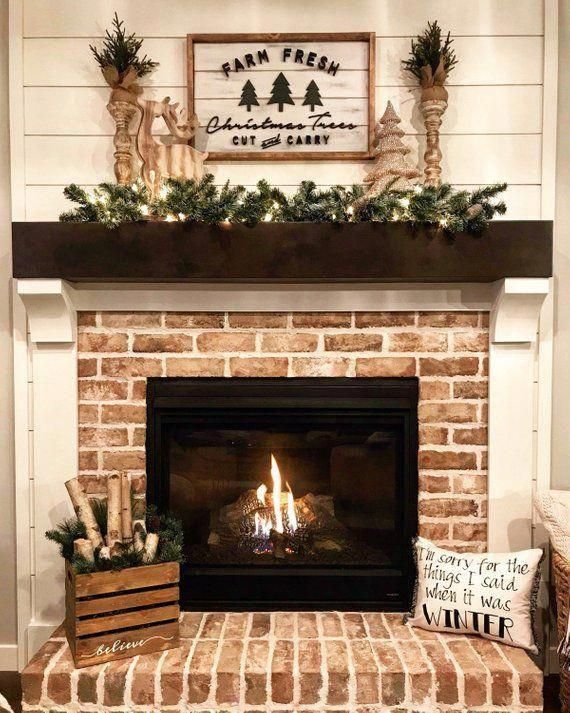 Christmas Tree Sign / Farmhouse Style Wall Decor / Farm Fresh Christmas Trees Sign / Holiday Sign / Wall Art / 3D Sign / Wood Signs