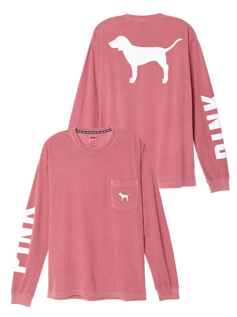 Campus Long Sleeve Tee - PINK - Victoria's Secret | -Fashion ...