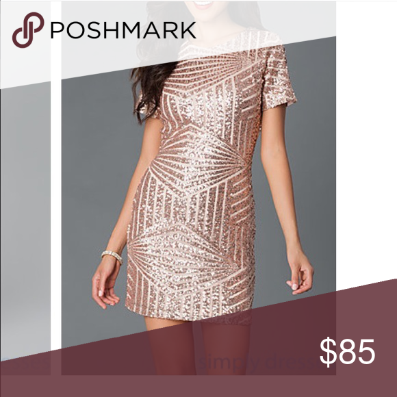 Rose Gold Sequin Dress😻 Super cute party, dance, bridesmaid dress! Brand new with tags, bought from simplydress.com. Size medium, good quality Dresses